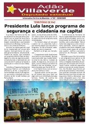 Presidente Lula lança programa de segurança e ... - Adão Villaverde