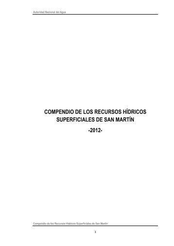 compendio de los recursos hídricos superficiales de san martín -2012