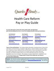 Health Care Reform Pay or Play Guide - The Alliance