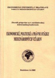 4. medzinárodná vedecká konferencia doktorandov - Fakulta ...