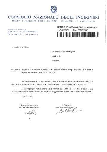 proposte di modifiche al codice dei contratti pubblici e al relativo ...