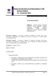 Relevé de Décision et d'Information n° 150 - Fédération Française ...