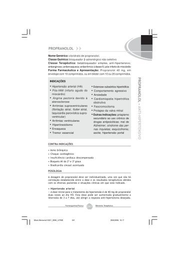 Propranolol, cloridrato - Farmanguinhos - Fiocruz