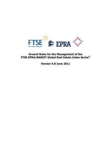 FTSE EPRA-NAREIT Global Real Estate Index Ground Rules v4.8x
