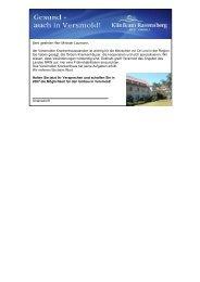 Die Postkartenaktion zum Erhalt des Versmolder Krankenhauses