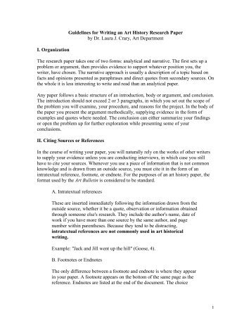Guidelines for writing research papers