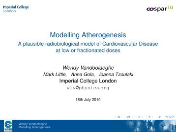Modelling Atherogenesis - Imperial College London