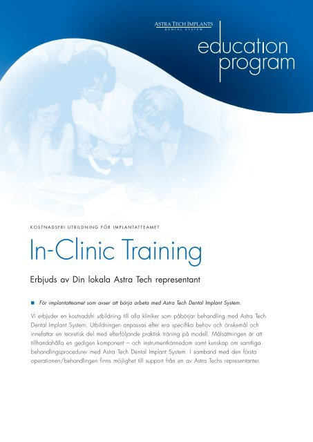 In-Clinic Training - Astra Tech