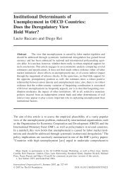 Institutional Determinants of Unemployment in ... - ResearchGate