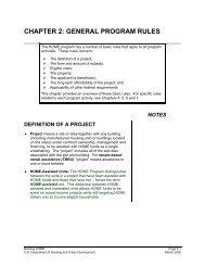 CHAPTER 2: GENERAL PROGRAM RULES - HUD
