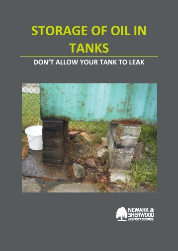 STORAGE OF OIL IN TANKS - Newark and Sherwood District Council