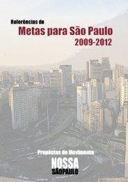 publicação com 158 metas de referências - Rede Nossa São Paulo