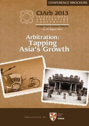 Asia's Growth Tapping - Chartered Institute of Arbitrators