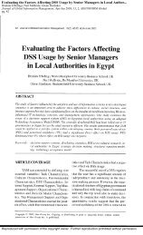 Evaluating the Factors Affecting DSS Usage by Senior Managers in ...