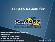 jakość w przyszłości - SaMASZ Sp. z oo