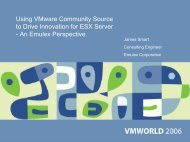 Using VMware Community Source to Drive Innovation for ESX Server