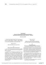 Schuldnerverzeichnisführungsverordnung - Amtsgericht Goslar