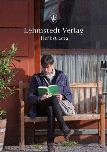 Lehmstedt Verlag, Herbst 2012, Katalog, Download als PDF