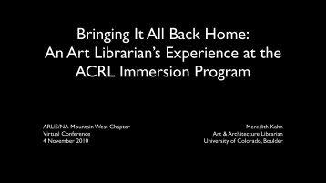 slides - ARLIS/NA-MW Chapter