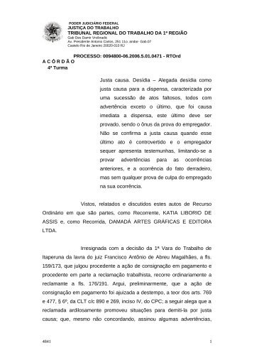 00948000620065010471#11-0 - Tribunal Regional do Trabalho da ...