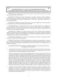 Recomendación de ICCAT para un mayor reforzamiento del plan de ...