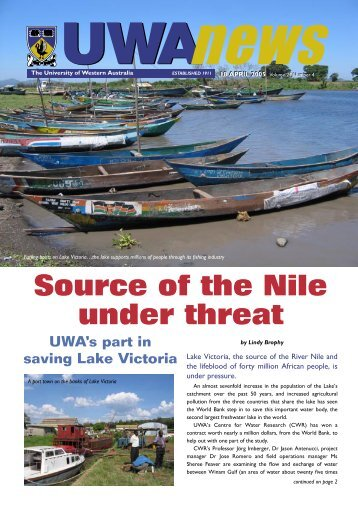 18 Apr: Vol 24, #4 - UWA News staff magazine - The University of ...
