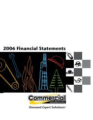 2006 Financial Statements - Commercial Solutions Inc