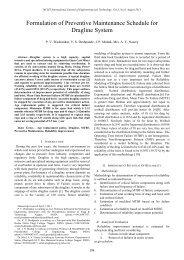 Formulation of Preventive Maintenance Schedule for Dragline ... - IJET