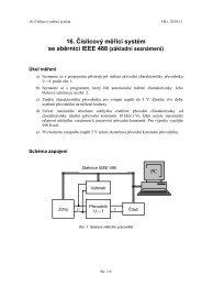 16. Číslicový měřicí systém se sběrnicí IEEE 488