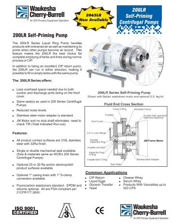 200LR Self Priming Centrifugal Pumps Brochure - Liquidyne