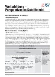 Weiterbildung - Bildung Detailhandel Schweiz (BDS)