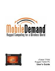 xTablet T7000 Rugged Tablet PC User's Guide