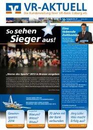 Kundenzeitung Nr. 27 - Winter 2013 - VR-Bank Coburg eG