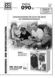 vallox kwl 090 se - Heinemann GmbH