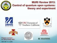 Control of Quantum Systems: Theory and Experiments - Defense ...