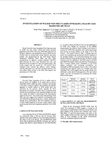 Investigation of pulsed non-melt laser annealing (NLA) of CIGS ...