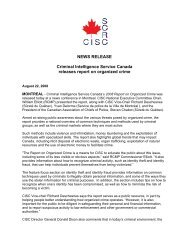 NEWS RELEASE Criminal Intelligence Service Canada releases ...