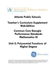 Unit 2 TEACHER - Atlanta Public Schools
