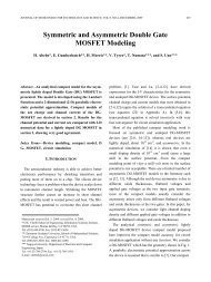 Symmetric and Asymmetric Double Gate MOSFET Modeling - JSTS