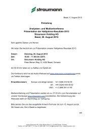 Einladung und Anmeldung (Download) (PDF - 103 KB) - Straumann