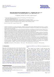 Deuterated formaldehyde in rho Ophiuchi A - Mpifr-bonn.mpg.de
