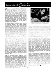 Synopsis of Othello - The Shakespeare Theatre Company