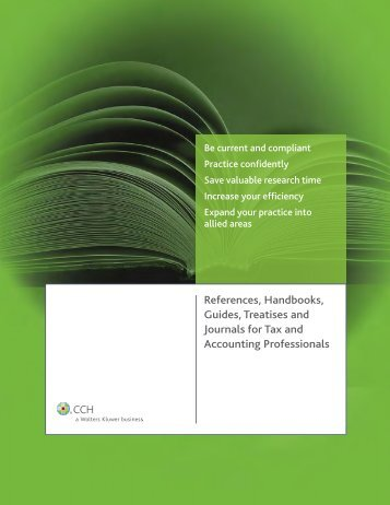 References, Handbooks, Guides, Treatises and Journals for Tax and ...