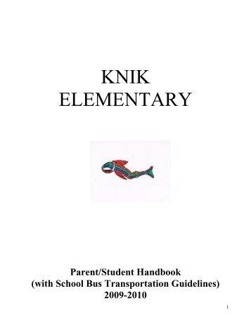 Knik Handbook - Matanuska-Susitna Borough School District