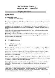 EFJ Annual Meeting - Europe - International Federation of Journalists