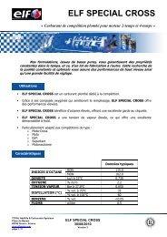 SPECIAL CROSS FR - ELF Compétition
