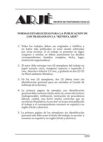 Instrucciones - Portal de Revistas Electrónicas-Universidad de ...