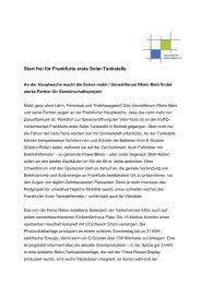 Start frei für Frankfurts erste Solar-Tankstelle - Umweltforum ...