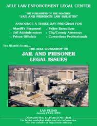 jail and prisoner law bulletin - AELE's Home Page
