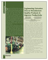 Engineering Extrusion Dies to Manufacture Quality Products ...
